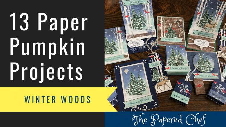 13 Paper Pumpkin Projects - Winter Woods
