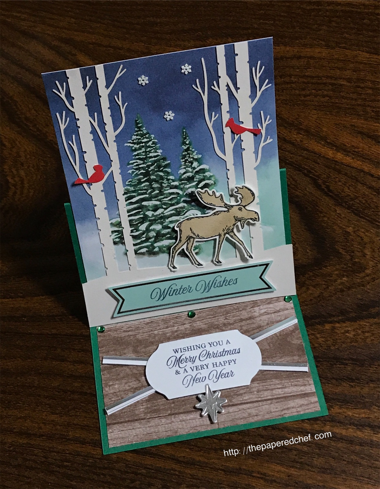 Winter Woods Card featuring Merry Moose