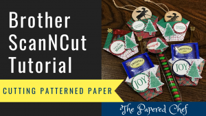 Brother ScanNCut - Cutting Patterned Paper - Wrapped in Plaid
