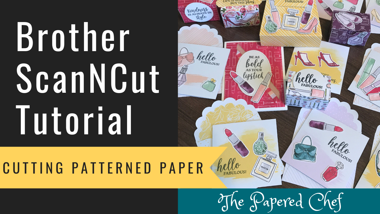 Brother ScanNCut - Cutting Patterned Paper - Best Dressed