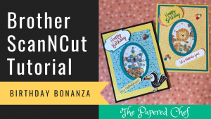 Brother ScanNCut - Birthday Bonanza Shaker Cards