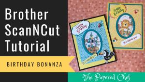 Brother ScanNCut - Birthday Bonanza Shaker Cards