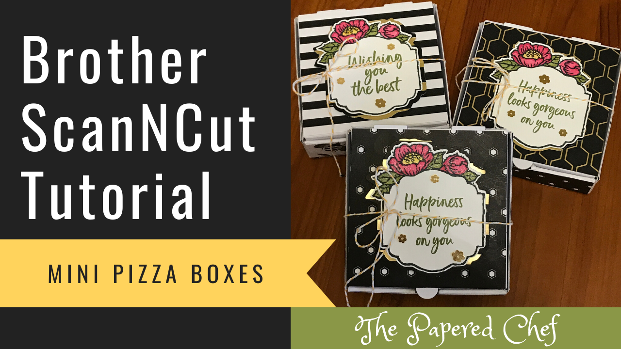 Brother ScanNCut - Tags in Bloom Mini Pizza Boxes