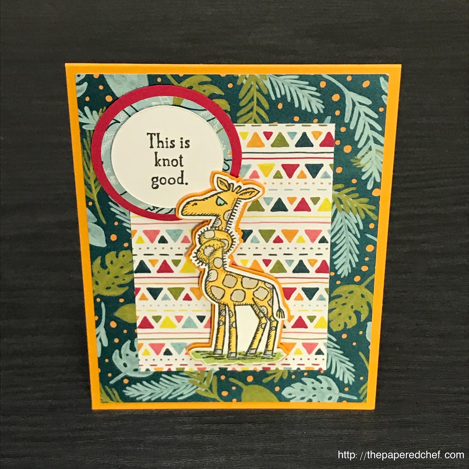 Back on Your Feet - Giraffe Card