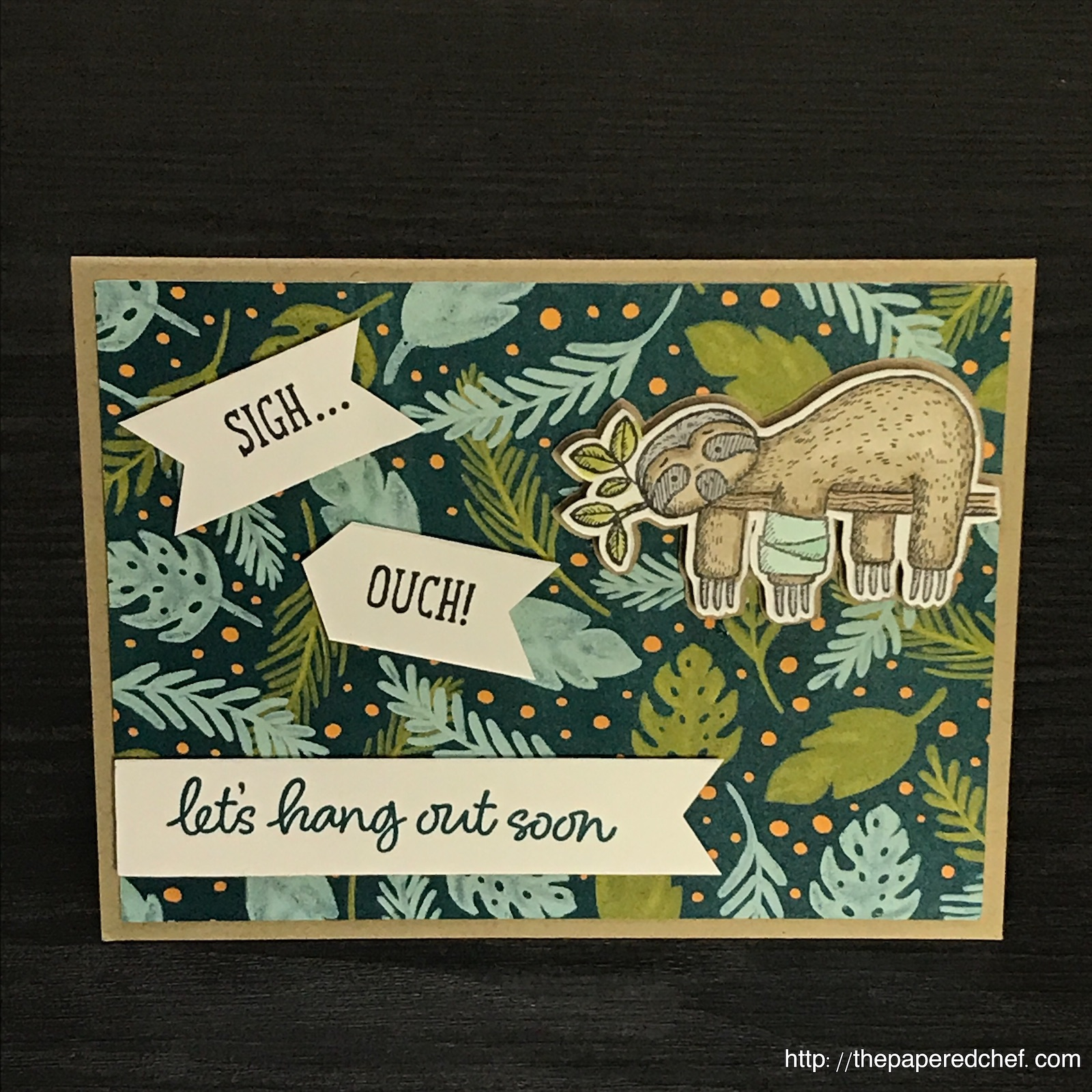 Back on Your Feet Sloth Get Well Card