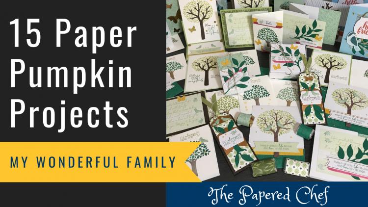 Paper Pumpkin - My Wonderful Family