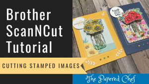 Brother ScanNCut - Cutting Stamped Images - Jar of Flowers