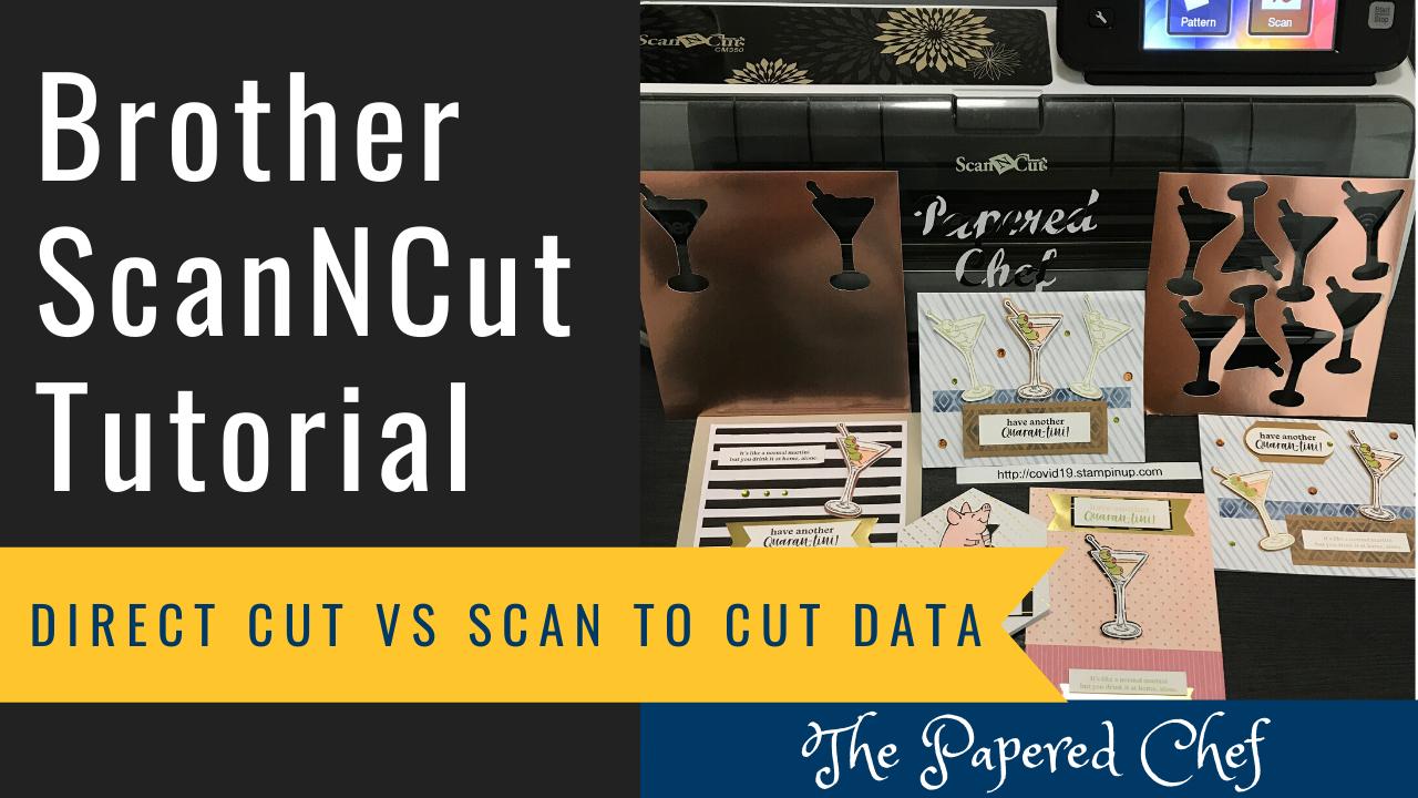 ScanNCut - Direct Cut vs Scan to Cut Data