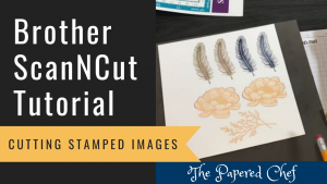 Brother ScanNCut - Cutting Stamped Images - Tasteful Touches Stamp Set