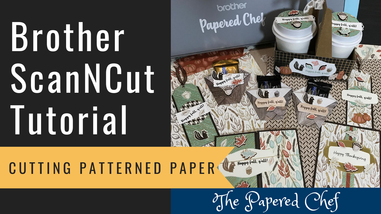 Brother ScanNCut - Cutting Patterned Paper - Gilded Autumn