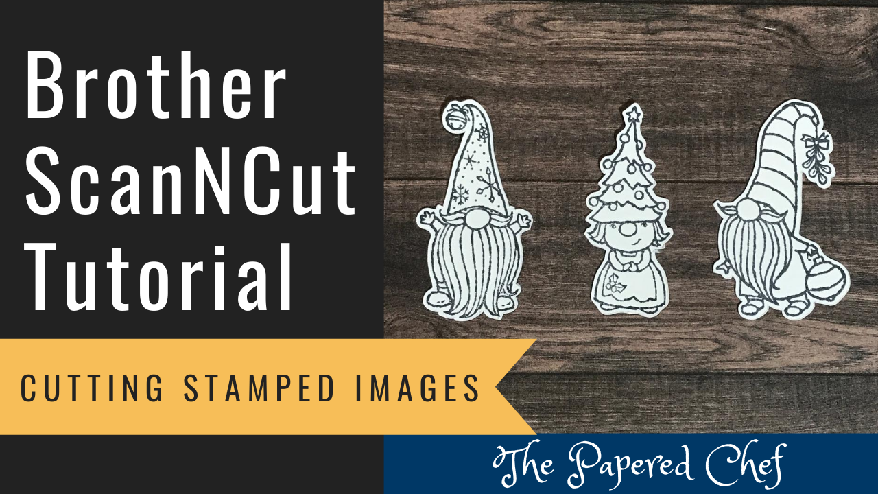 Brother ScanNCut - Cutting Stamped Images - Gnome