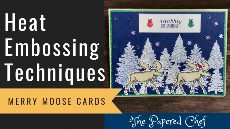 Creating Embossed Backgrounds - Merry Moose