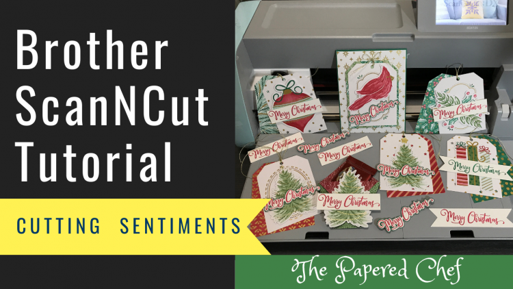 Brother ScanNCut Tutorial - Cutting Stamped Sentiments - Tag Buffet