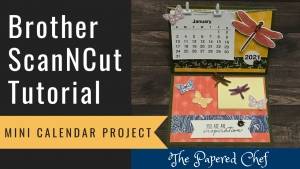 Brother ScanNCut - Mini Calendar Project
