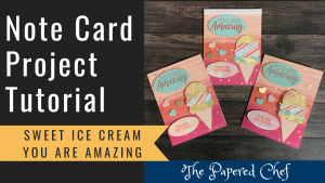 Note Card Project - Sweet Ice Cream