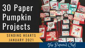 Paper Pumpkin - Sending Hearts