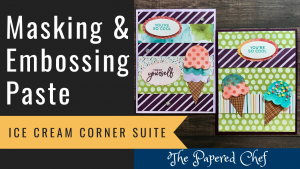 Ice Cream Corner - Embossing Paste