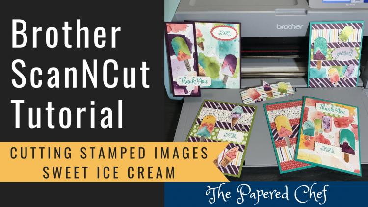 ScanNCut - Sweet Ice Cream Stamp Set