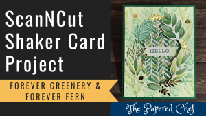 ScanNCut - Forever Greenery Shaker Card